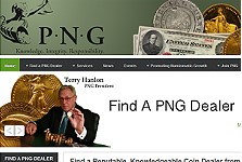 Professional Numismatists Guild Website Has New  Address, Appearance and Features