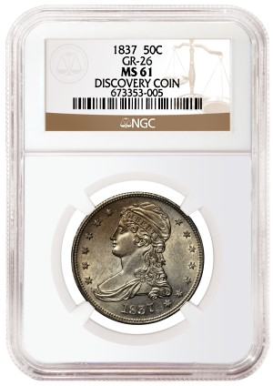 1837 50c gr26 discovery NGC Certifies New 1837 Reeded Edge Half Dollar Variety