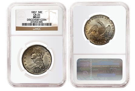 NGC Certifies New 1837 Reeded Edge Half Dollar Variety