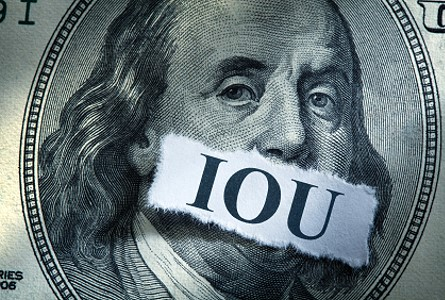 IOU dollar The Federal Reserve Is Trapped with  Inflation of the Money Supply