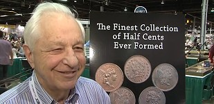 Missouri Cabinet of Finest Known Half Cents to be Sold by Goldbergs. VIDEO: 3:46