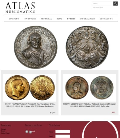 atlas Atlas Numismatics Opens For Business