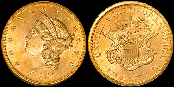 dw 54S 20 seawater The 1854 S Double Eagle US Gold Coin: A Study