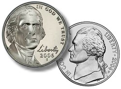 jeff nickels bass US Coins: 75 Years of Jefferson Nickels