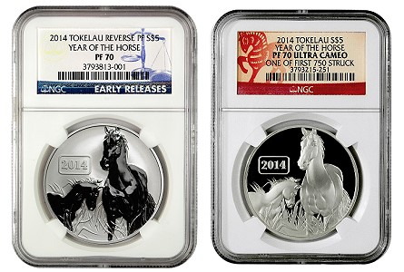2014 Tokelau Horse Coins Reclassified as Reverse Proof