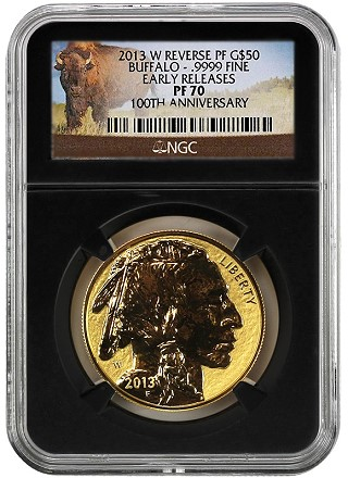 rev proof buf ngc retro The Coin Analyst: Are the Chicago ANA Buffalo Reverse Proof Gold Coins Really That Special?