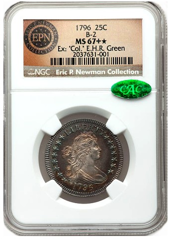 1796 25c newman Numismatic world riveted by Eric P. Newman Coin Collection Part II, Nov. 15 16 in New York