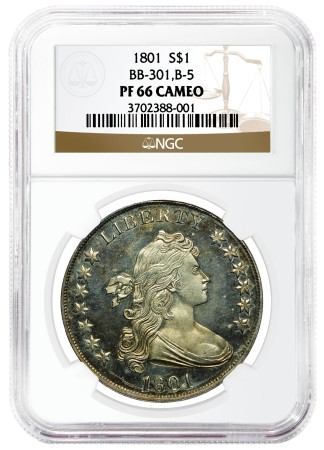 1801 proof dollar NGC Certifies Extremely Rare Proof 1801 Bust Silver Dollar