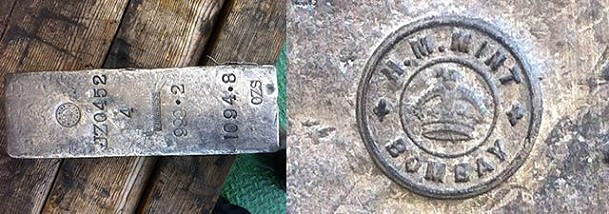 Gairsoppa monaco3 Shipwreck Treasure Silver Ingots recovered from torpedoed WWII freighter Gairsoppa now available from Monaco