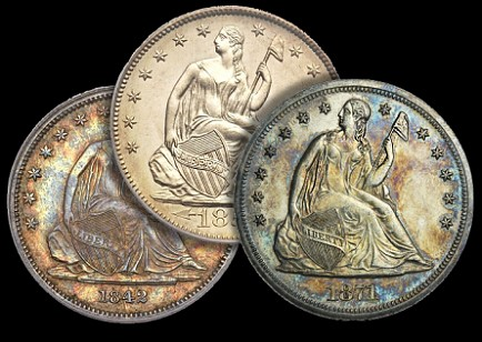 seated dollars three Seated Liberty Dollars: An Overlooked Series with Long term Potential
