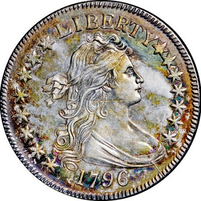 1796 50c 15 stars The Fabulous Eric Newman Collection, part 5: 1796 U.S. Half Dollars