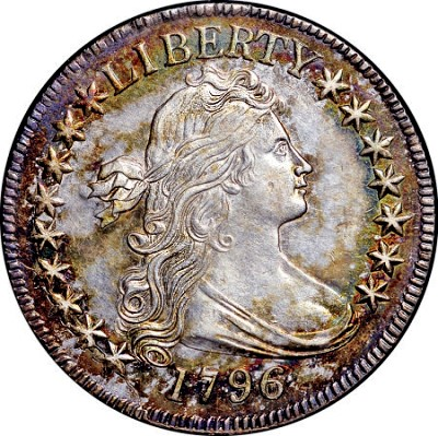 1796 50c 16stars The Fabulous Eric Newman Coin Collection, part 5: 1796 U.S. Half Dollars