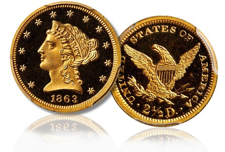 The Proof-only Quarter Eagles ($2½ gold coins) of 1863