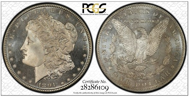 1891 cc morgan pcgs PCGS Hosts Display Of Finest Morgan Dollar Set At 2014 FUN
