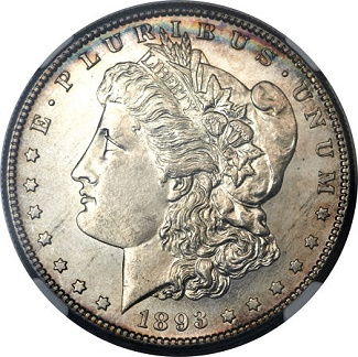 1893 ha nov13 High grade 1893 S Morgan Dollar realizes $235,000 to lead Heritage Auctions' $11.3+ million U.S. coin event in New York