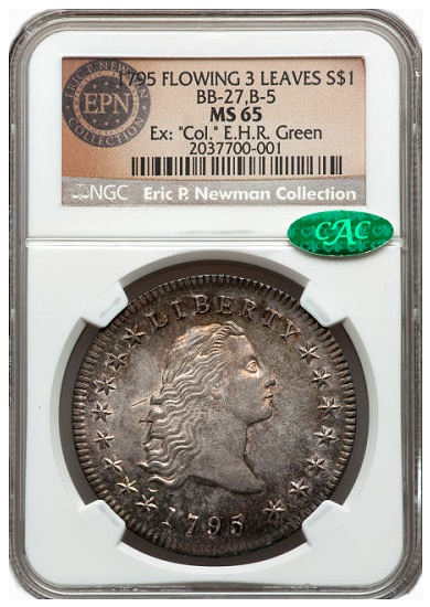 gr newman 1795 s1 The Fabulous Eric Newman Collection, Part 7: Gem Quality Early U.S. Silver Dollars