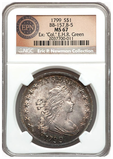 gr newman 1799 1s The Fabulous Eric Newman Collection, Part 7: Gem Quality Early U.S. Silver Dollars