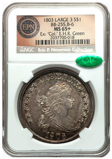 gr newman 1803 1s The Fabulous Eric Newman Collection, Part 7: Gem Quality Early U.S. Silver Dollars