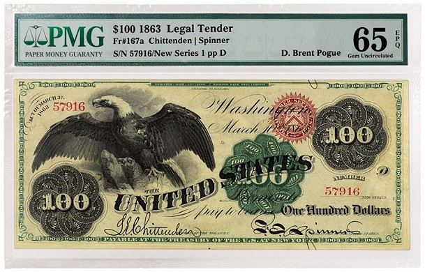 pogue 167 PMG Certifies Important D. Brent Pogue Collection of US Paper Money