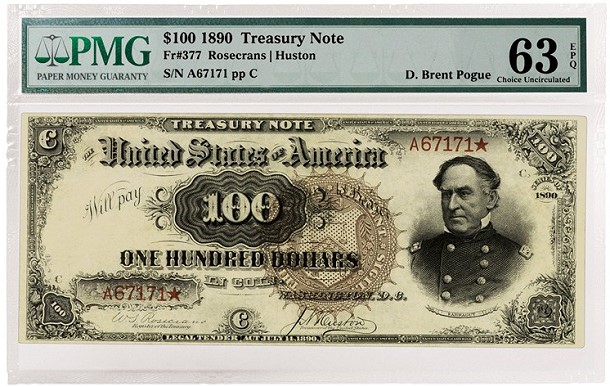 pogue 377 PMG Certifies Important D. Brent Pogue Collection of US Paper Money