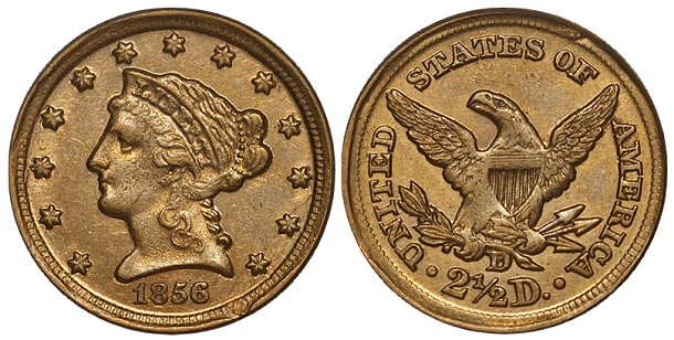 The 1856-D Quarter Eagle