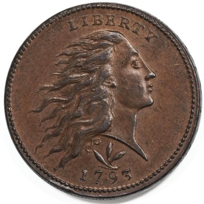 nfc 1793 obv 1793 Wreath Cent Emerges in England