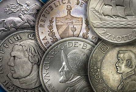 World Coins –  Small Circulating Silver Commemoratives
