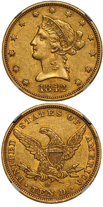 dw 1842 O 10 Liberty Head Eagles and The Condition Census: Part One