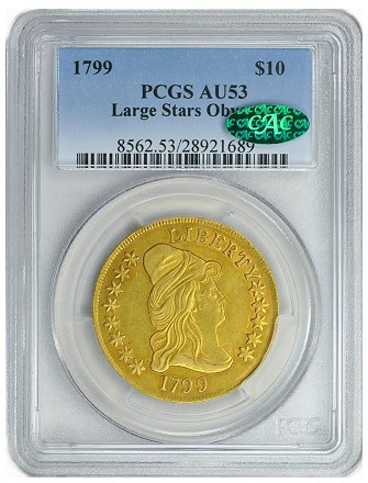 gc 1799 10 cac GreatCollections to Auction the Paterson Collection of U.S. Type Coins
