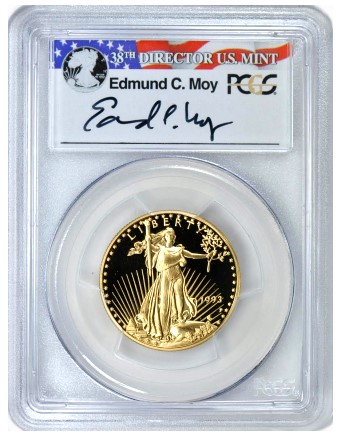 gc 93pr70 25 moy Record $22,825 for Modern Gold $25 Eagle at GreatCollections
