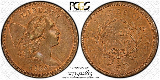 pcgs 1794 hc miss Finest Half Cent Collection in PCGS Set Registry Brings Million Dollar Prices