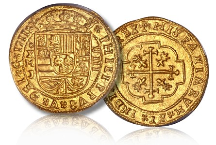 royal cob Gold Royal Cob Sheds Light on Spanish Colonial Coinage and Highlights Heritage World Coin Results