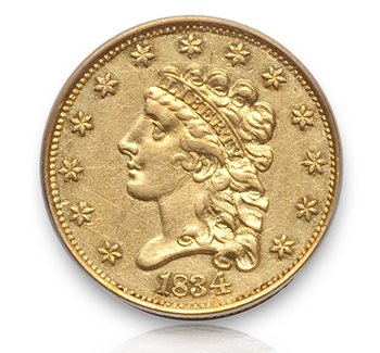 1834 Rare Gold Coins under $5000, Part 1: Classic Head Quarter Eagles ($2½ Gold)
