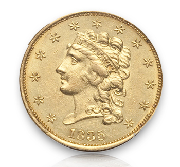 1835 Rare Gold Coins under $5000, Part 1: Classic Head Quarter Eagles ($2½ Gold)