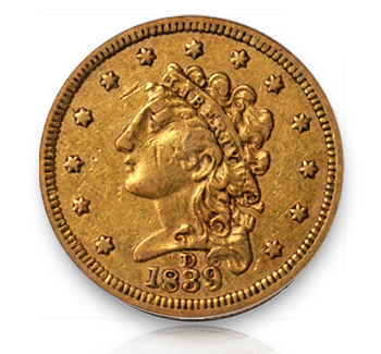 1839d Rare Gold Coins under $5000, Part 1: Classic Head Quarter Eagles ($2½ Gold)