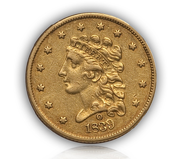 1839o1 Rare Gold Coins under $5000, Part 1: Classic Head Quarter Eagles ($2½ Gold)