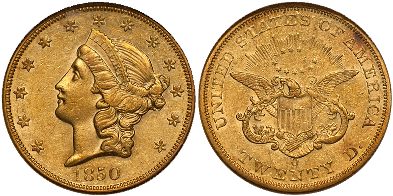 1850 The Ten Most Marketable New Orleans Gold Coins