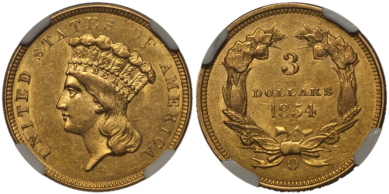 1854o The Ten Most Marketable New Orleans Gold Coins
