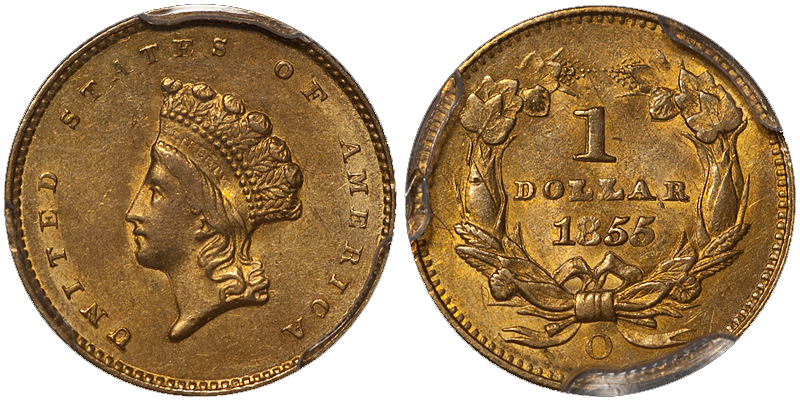 1855 The Ten Most Marketable New Orleans Gold Coins