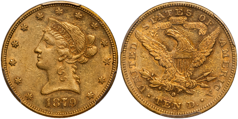 1879 The Ten Most Marketable New Orleans Gold Coins