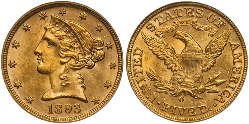 1893o The Ten Most Marketable New Orleans Gold Coins