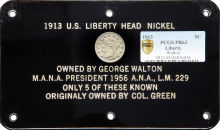 1913 George Walton (Former 1913 Liberty Head V Nickel Owner) Heirs Donate $100,000 to the ANA