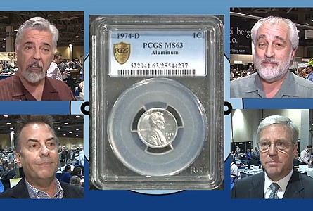Discovery Coin:  1974-D Aluminum Lincoln Cent on Display at Long Beach Expo. VIDEO