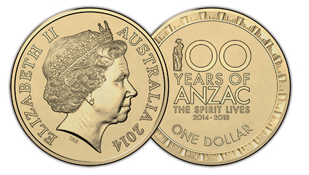 anzac Royal Australian Mint Unveils New Circulating $1 Coin Commemorating Anzac Centenary