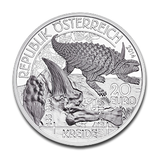 dinoobv Austrian Mint Dinosaur Coin Cretaceous Period Released