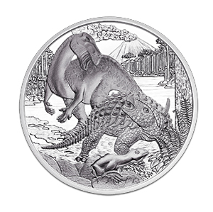 dinorev Austrian Mint Dinosaur Coin Cretaceous Period Released