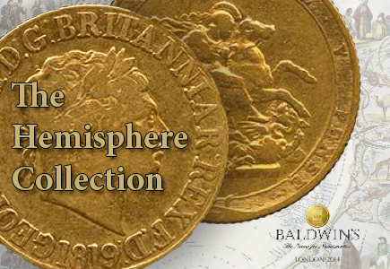 "UK Coin Auctioneer Baldwin's to Offer Impressive ""Hemisphere Coin Collection"""