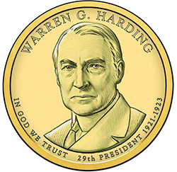 harding 2014 Warren G. Harding Dollar Coin Cover Available February 27