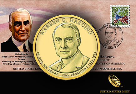 2014 Warren G. Harding Dollar Coin Cover Available February 27