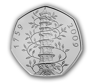 kew3 Kew Gardens 50p, the UKs Rarest Circulating Commemorative Coin